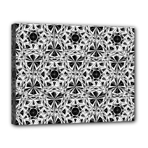 Star Crystal Black White 1 And 2 Canvas 14  X 11  by Cveti