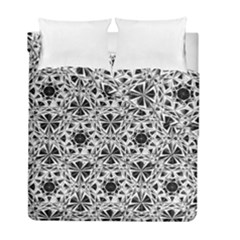 Star Crystal Black White 1 And 2 Duvet Cover Double Side (full/ Double Size) by Cveti