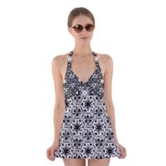 Star Crystal Black White 1 And 2 Halter Dress Swimsuit