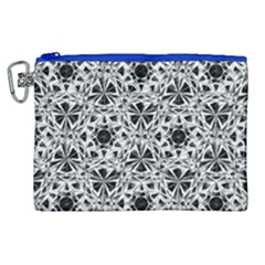 Star Crystal Black White 1 And 2 Canvas Cosmetic Bag (xl) by Cveti