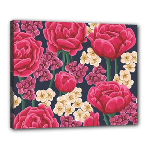 Pink Roses And Daisies Canvas 20  X 16  by allthingseveryday