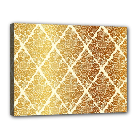 Vintage,gold,damask,floral,pattern,elegant,chic,beautiful,victorian,modern,trendy Canvas 16  X 12  by 8fugoso