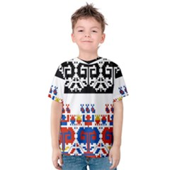 Bulgarian Folk Art Folk Art Kids  Cotton Tee by Celenk