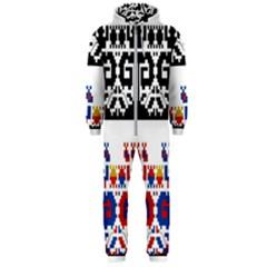 Bulgarian Folk Art Folk Art Hooded Jumpsuit (men)  by Celenk