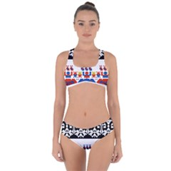 Bulgarian Folk Art Folk Art Criss Cross Bikini Set by Celenk
