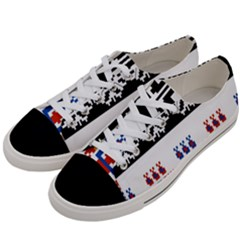 Bulgarian Folk Art Folk Art Women s Low Top Canvas Sneakers by Celenk