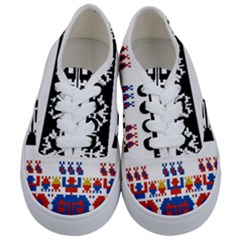 Bulgarian Folk Art Folk Art Kids  Classic Low Top Sneakers