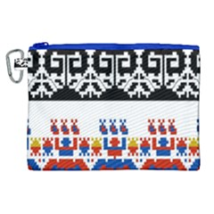 Bulgarian Folk Art Folk Art Canvas Cosmetic Bag (xl) by Celenk