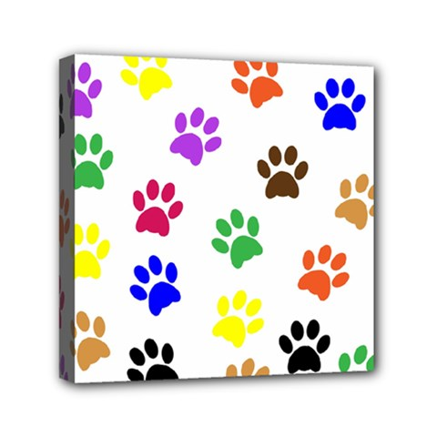 Pawprints Paw Prints Paw Animal Mini Canvas 6  X 6  by Celenk