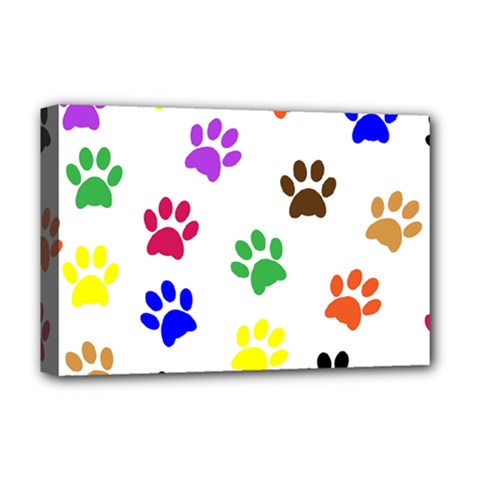 Pawprints Paw Prints Paw Animal Deluxe Canvas 18  X 12   by Celenk
