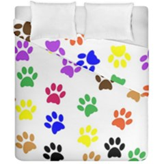 Pawprints Paw Prints Paw Animal Duvet Cover Double Side (california King Size) by Celenk