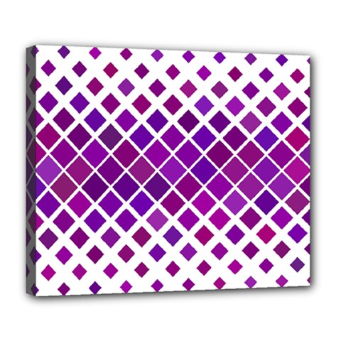 Pattern Square Purple Horizontal Deluxe Canvas 24  X 20   by Celenk