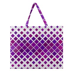 Pattern Square Purple Horizontal Zipper Large Tote Bag by Celenk