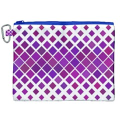 Pattern Square Purple Horizontal Canvas Cosmetic Bag (xxl) by Celenk