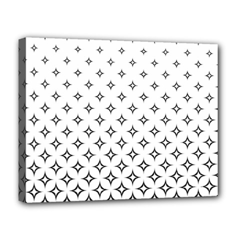 Star Pattern Decoration Geometric Canvas 14  X 11  by Celenk