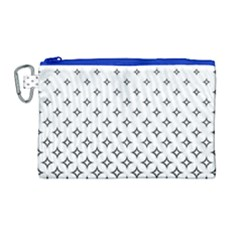 Star Pattern Decoration Geometric Canvas Cosmetic Bag (large) by Celenk