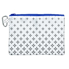 Star Pattern Decoration Geometric Canvas Cosmetic Bag (xl) by Celenk