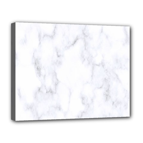 Marble Texture White Pattern Canvas 14  X 11  by Celenk