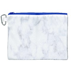 Marble Texture White Pattern Canvas Cosmetic Bag (xxl) by Celenk
