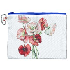 Flowers Poppies Poppy Vintage Canvas Cosmetic Bag (xxl) by Celenk