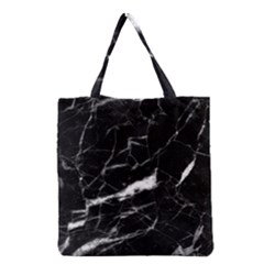 Black Texture Background Stone Grocery Tote Bag by Celenk