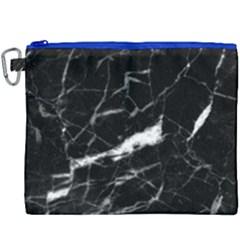 Black Texture Background Stone Canvas Cosmetic Bag (xxxl) by Celenk
