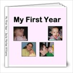 ABC Book of my First Year - 8x8 Photo Book (20 pages)