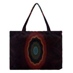 Cosmic Eye Kaleidoscope Art Pattern Medium Tote Bag by Celenk