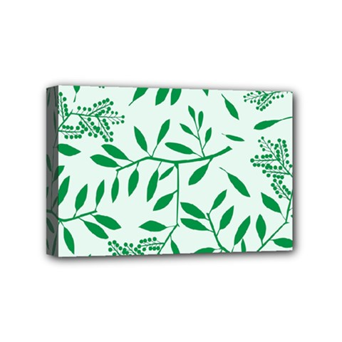 Leaves Foliage Green Wallpaper Mini Canvas 6  X 4  by Celenk