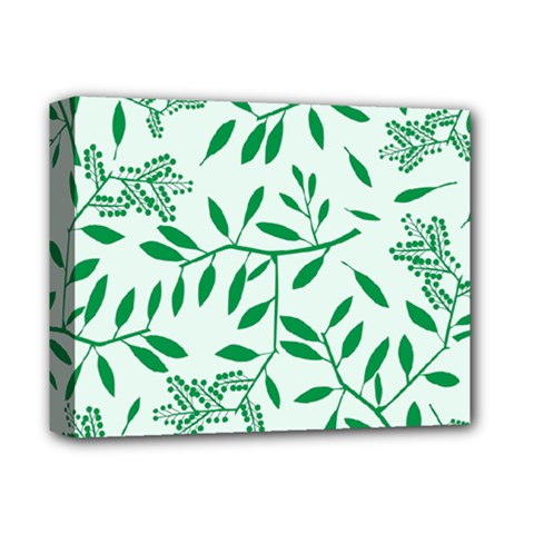 Leaves Foliage Green Wallpaper Deluxe Canvas 14  X 11  by Celenk
