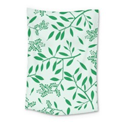 Leaves Foliage Green Wallpaper Small Tapestry by Celenk