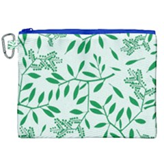 Leaves Foliage Green Wallpaper Canvas Cosmetic Bag (xxl) by Celenk