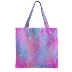Space Psychedelic Colorful Color Grocery Tote Bag by Celenk