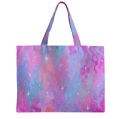 Space Psychedelic Colorful Color Zipper Mini Tote Bag