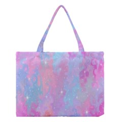 Space Psychedelic Colorful Color Medium Tote Bag by Celenk