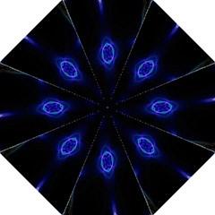 Lightning Kaleidoscope Art Pattern Hook Handle Umbrellas (medium) by Celenk