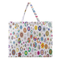 Design Aspect Ratio Abstract Zipper Large Tote Bag by Celenk