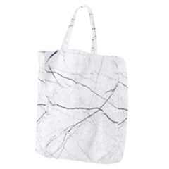 White Background Pattern Tile Giant Grocery Zipper Tote by Celenk