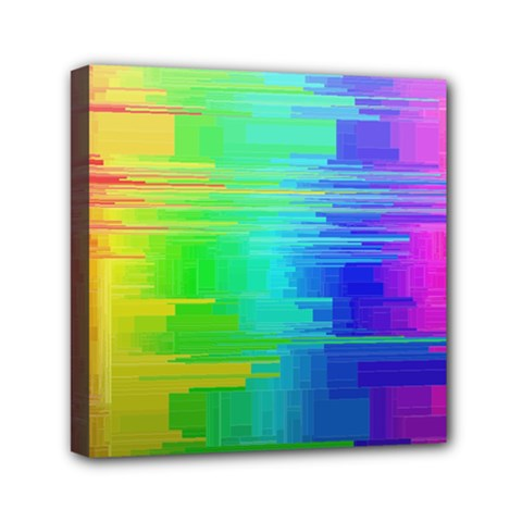 Colors Rainbow Chakras Style Mini Canvas 6  X 6  by Celenk