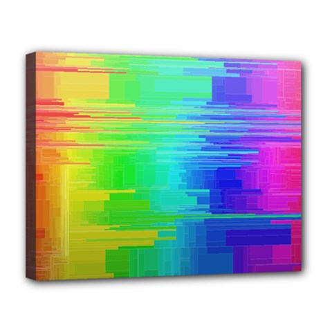 Colors Rainbow Chakras Style Canvas 14  X 11  by Celenk