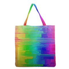 Colors Rainbow Chakras Style Grocery Tote Bag by Celenk
