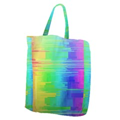 Colors Rainbow Chakras Style Giant Grocery Zipper Tote by Celenk