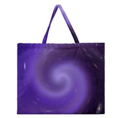Spiral Lighting Color Nuances Zipper Large Tote Bag by Celenk