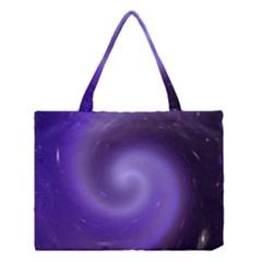 Spiral Lighting Color Nuances Medium Tote Bag by Celenk