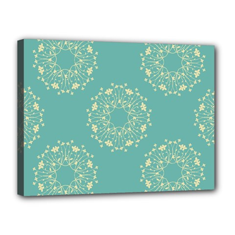 Floral Vintage Royal Frame Pattern Canvas 16  X 12  by Celenk