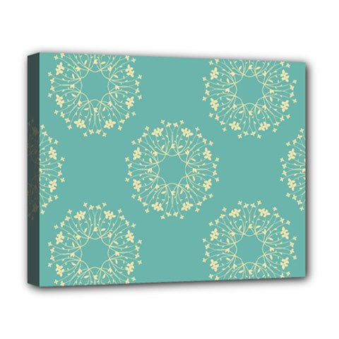 Floral Vintage Royal Frame Pattern Deluxe Canvas 20  X 16   by Celenk