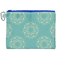 Floral Vintage Royal Frame Pattern Canvas Cosmetic Bag (xxl) by Celenk