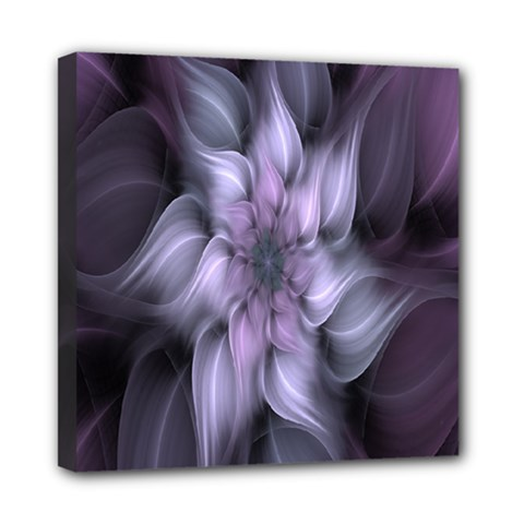 Fractal Flower Lavender Art Mini Canvas 8  X 8  by Celenk