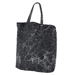 Black Texture Background Stone Giant Grocery Zipper Tote by Celenk