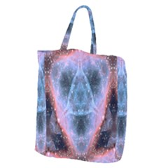 Sacred Geometry Mandelbrot Fractal Giant Grocery Zipper Tote by Celenk